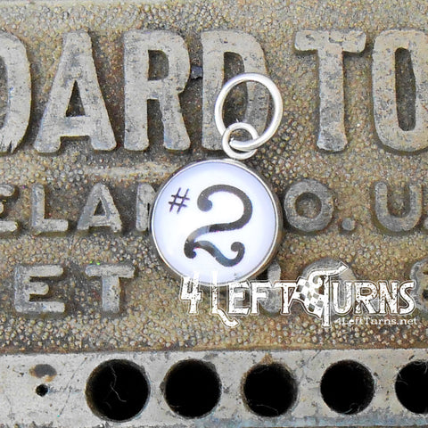 Race Car Number Charms