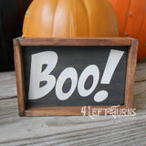 Fall Halloween Mini Signs for Tiered Trays Wood Sign