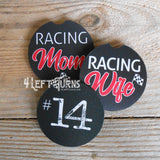 Custom Number Racing Themed Car Coasters