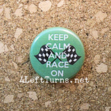 Racing Magnets and Pin Back Buttons - Everything Else - 4 Left Turns - 4