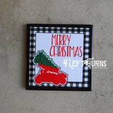 Christmas Themed Racing Beverage Coaster Set