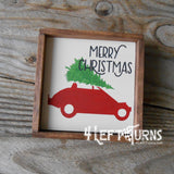 Christmas Racing Mini for Tiered Trays Wood Sign