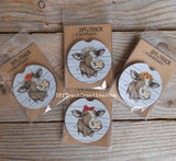 Country Cow Car Coasters