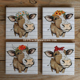 Country Cow Beverage Coasters