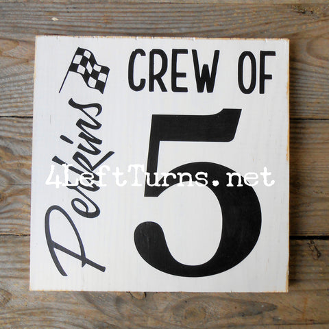 Crew of Personalized Wood Sign