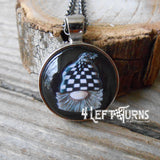 Checkers the Gnome Jewelry Earrings KeyFob Necklace Charm