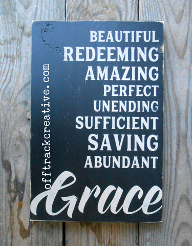 States of Grace Painted Sign