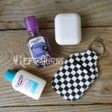 Checkered Travel Bottle Holder Key Ring