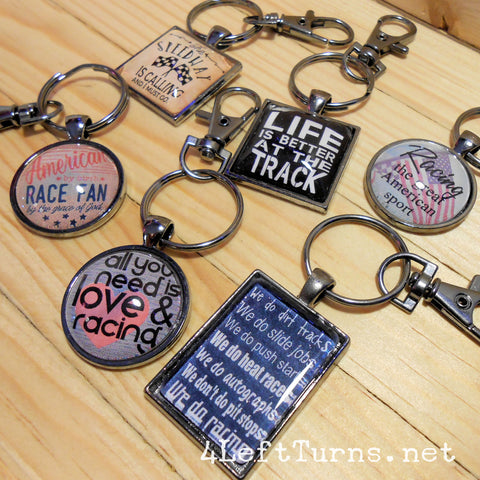 Racing Themed Key Rings - Everything Else - 4 Left Turns - 1