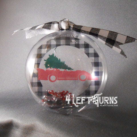 Race Cars and Christmas Trees Ornament