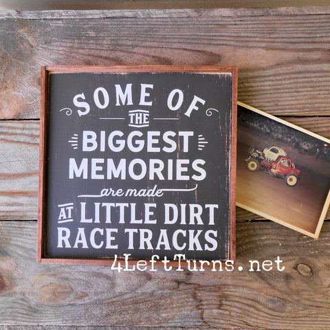 Little Dirt Tracks Painted Wood Sign