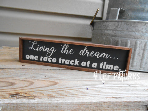 Living the Dream Mini Wood Sign