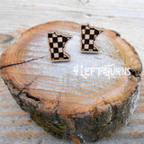 Checkered State Pierced Post Earrings