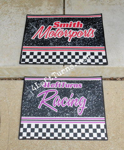 Custom Personalized Racing Rug
