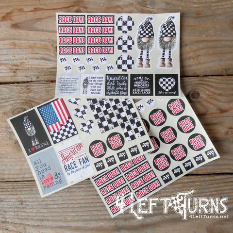 Checkers the Gnome Racing Planner Calendar Stickers