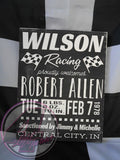 Racing-Themed Baby Announcement Hand Painted Wood Sign - Wood Sign - 4 Left Turns - 8