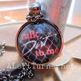 Talk Dirt to Me Necklace, Racing Jewelry, 4 Left Turns