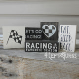 Racing is My Favorite Season Tiny Wood Sign