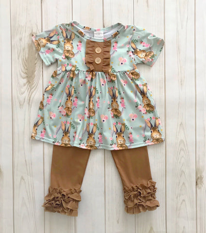 Easter Bunny Bouquet Pant Set {LIMITED}