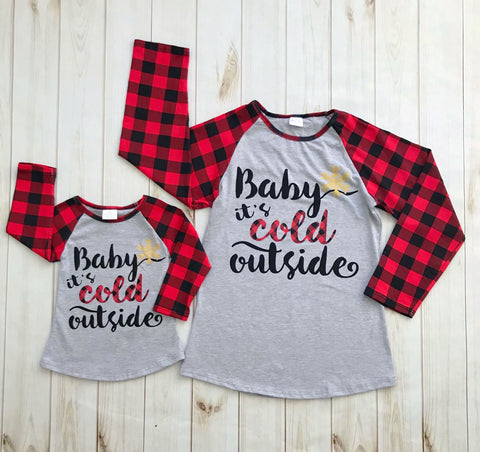 "KID'S TEE - ""Baby It's Cold Outside"""