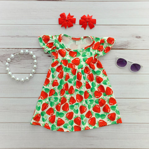 Red Strawberry Pearl Dress