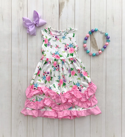 """Cassie"" Ruffle Boutique Dress"