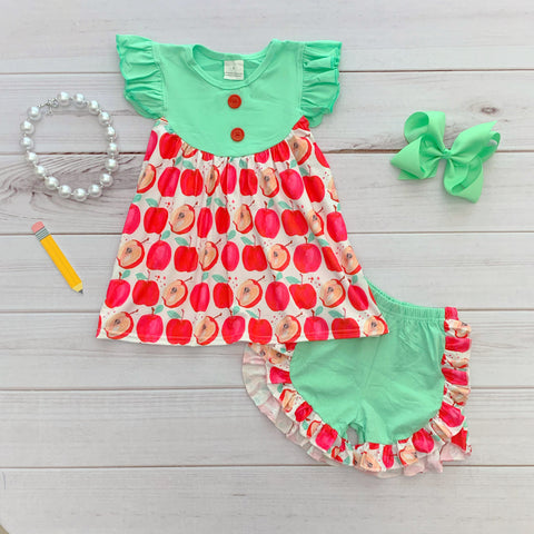 Mint Apple School Short Set {Limited}