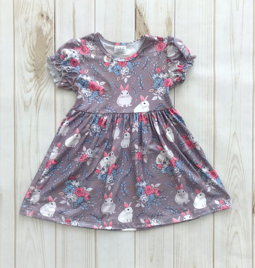 cb92db5ef0a75 Gray/Pink Easter Dress {LIMITED}