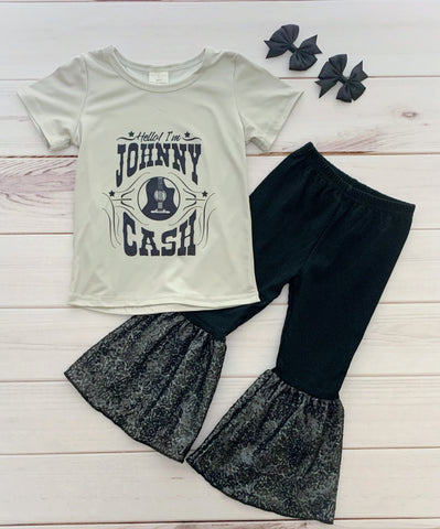 Johnny Cash Bell Bottom Pant Set