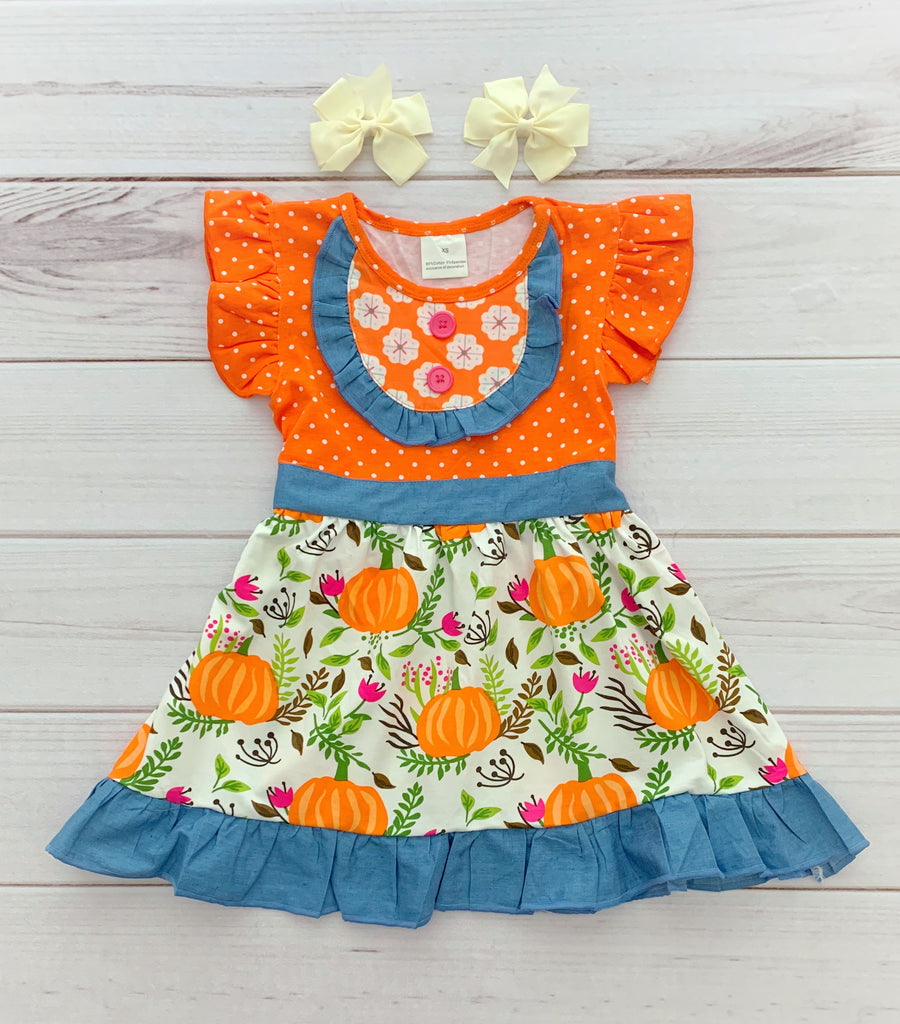 Polka Dot Pumpkin Dress {Limited}