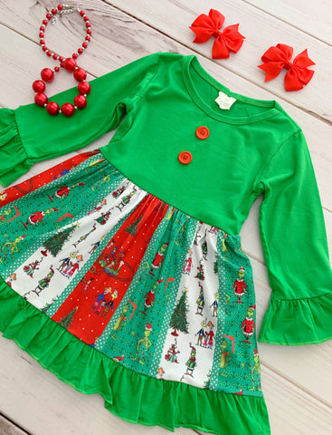 The Grinch Panel Dress {EXCLUSIVE}