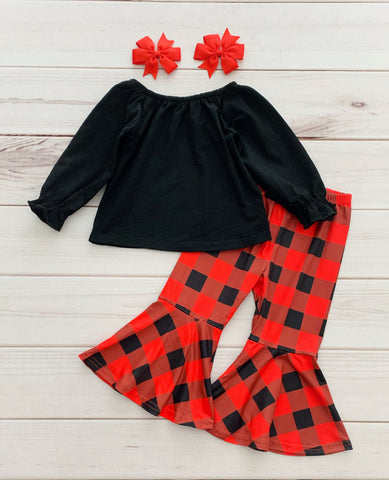 Buffalo Plaid Bells Set