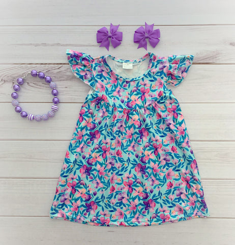 """Isla"" Floral Pearl Dress"