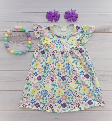 """Lilly"" Floral Pearl Dress"