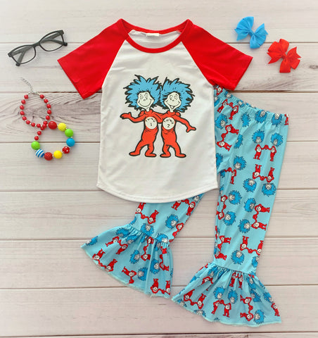 Thing 1, Thing 2 Dr. Seuss Boutique Outfit