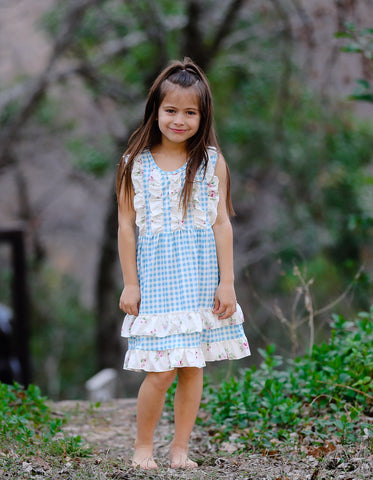 """Abigail"" Gingham Boutique Dress"