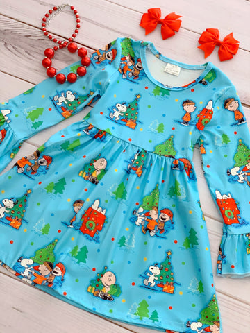 """A Charlie Brown Christmas"" Boutique Dress"