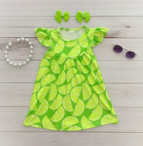 Lime Pearl Dress