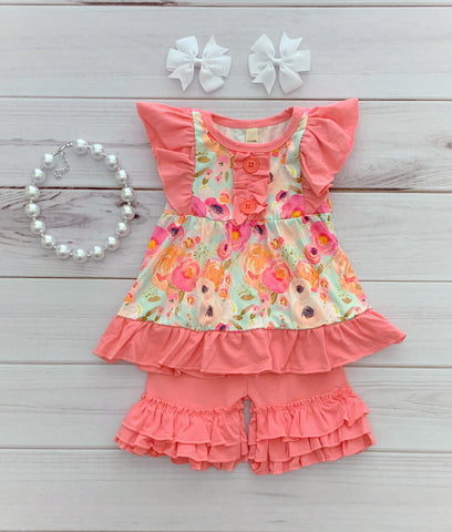 """Haven"" Floral Boutique Short Set"