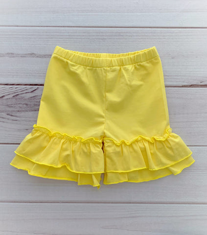 Double Ruffle Shorties - NINE Colors!!!