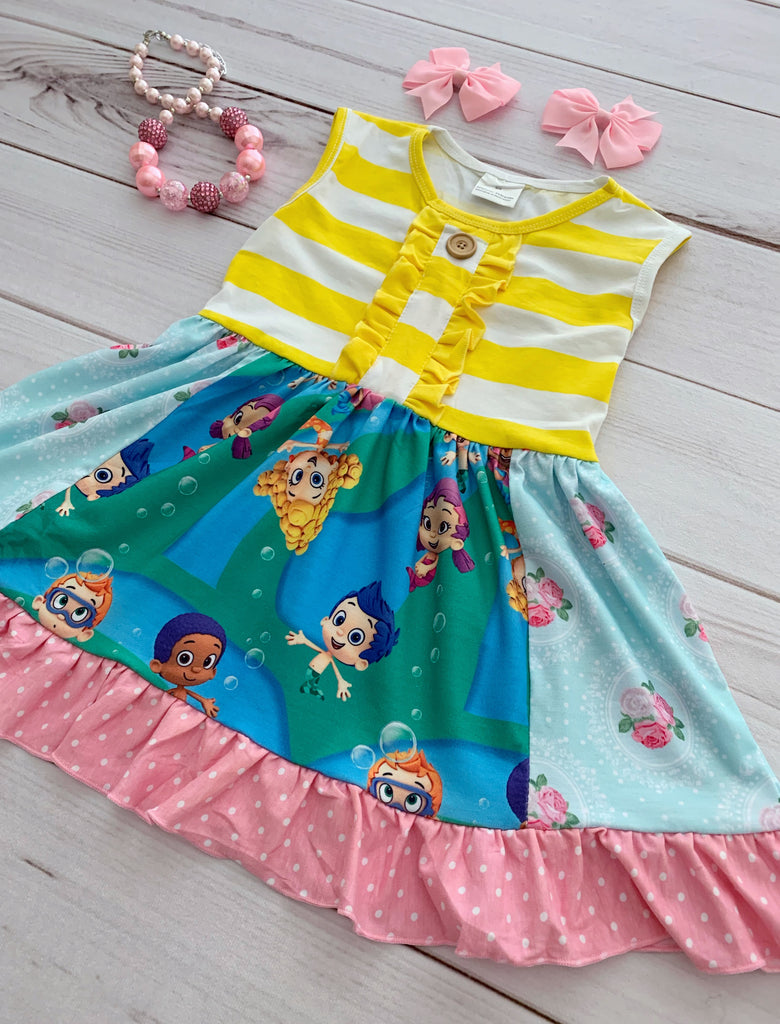 Bubble Guppies Panel Dress {Limited}