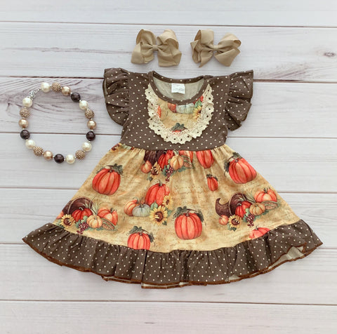 Polka Dot Harvest Boutique Dress {Limited}