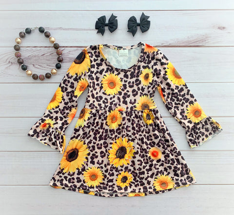 Leopard Print Sunflower Boutique Dress
