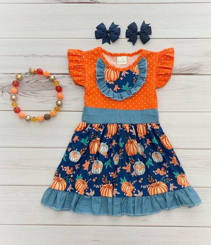 Pumpkin Patch Boutique Dress - polka dots
