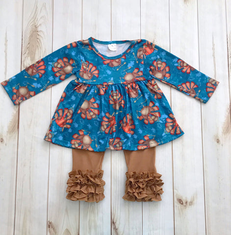 """Gobble Gobble"" Thanksgiving Boutique Outfit {Limited}"