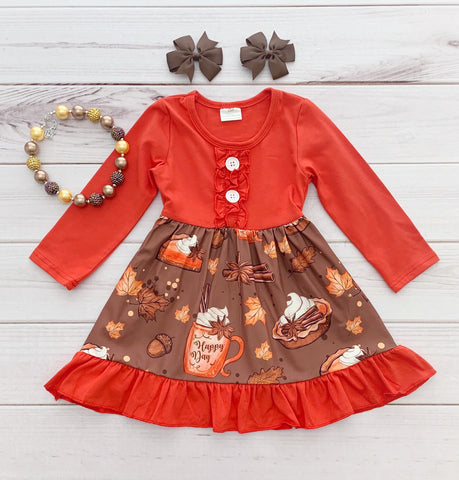 Pumpkin Spice Latte Boutique Dress {Limited}