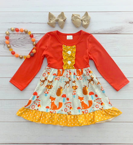 Woodland Friends Fall Boutique Dress {Limited}