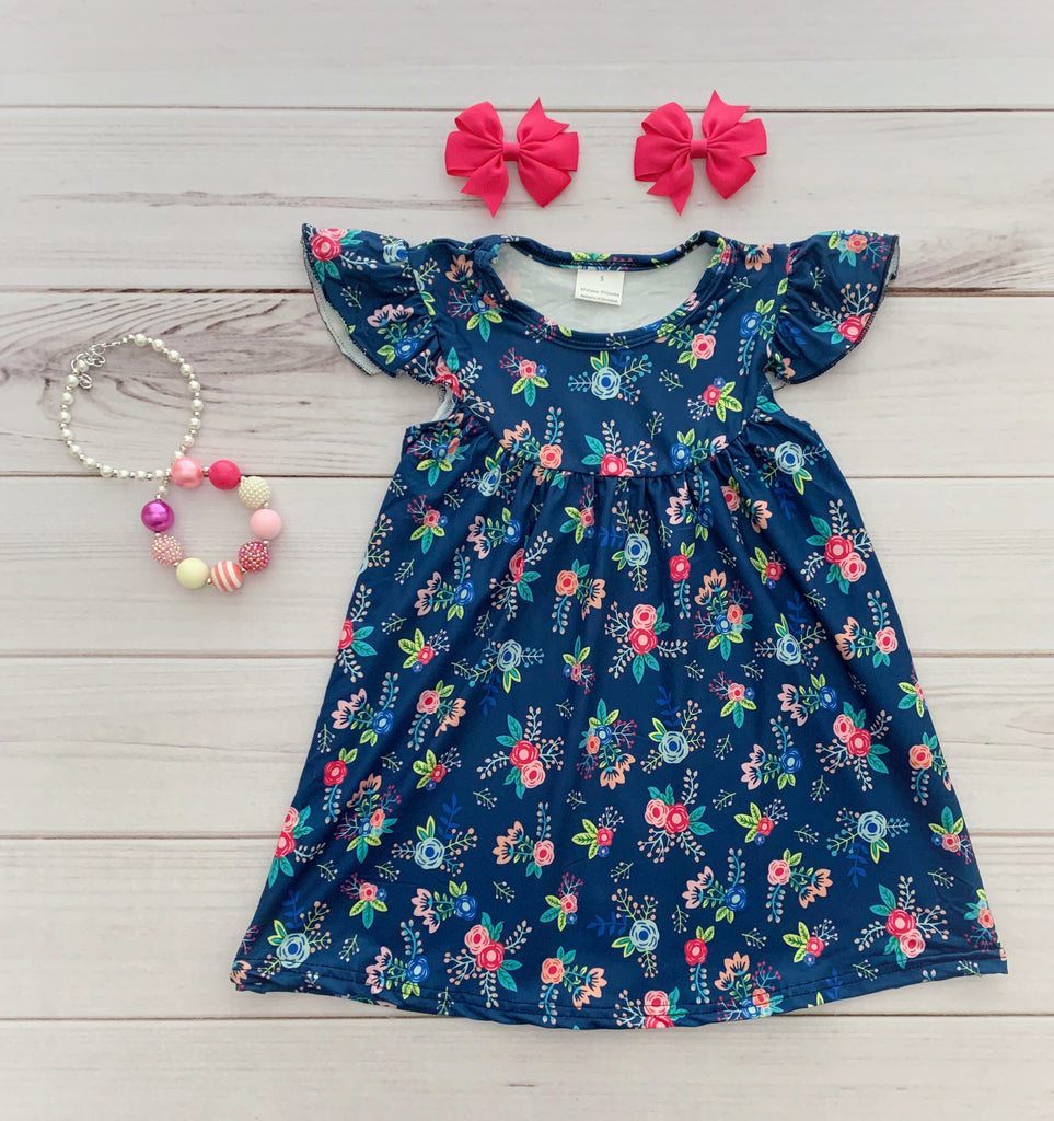"""Kenya"" Floral Pearl Dress"