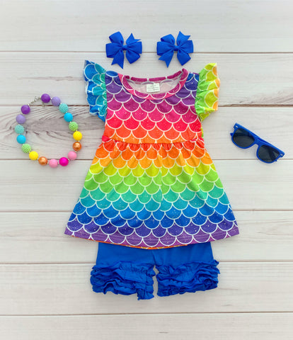 Over the Rainbow Mermaid Short Set