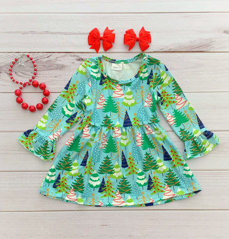 """Trim the Tree"" Boutique Dress"